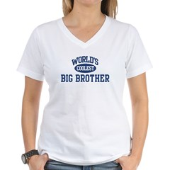 Coolest Big Brother Women's V-Neck T-Shirt