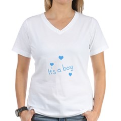 It's A Boy Women's V-Neck T-Shirt