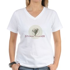 Storm Chaser Women's V-Neck T-Shirt
