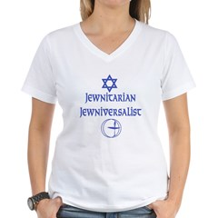 JewNitarian JewNiversalis Women's V-Neck T-Shirt