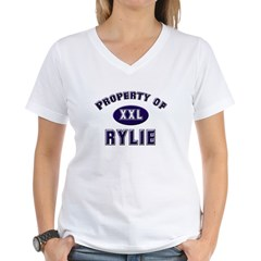 Property of rylie Women's V-Neck T-Shirt