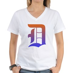 Olde English D Women's + Size Scoop Neck Dark Tee Women's V-Neck T-Shirt