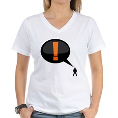 exclamation-dark Women's V-Neck T-Shirt