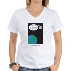 dark side of moon Women's V-Neck T-Shirt