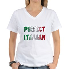 The Perfect Italian Women's V-Neck T-Shirt