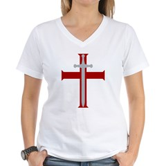 Crusader Sword Women's V-Neck T-Shirt