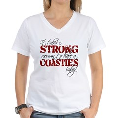 Strong woman (Coastie) Women's V-Neck T-Shirt
