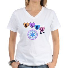 EMT Baby Women's V-Neck T-Shirt