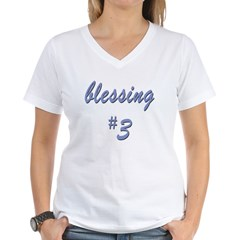 Blessing #3 Women's V-Neck T-Shirt
