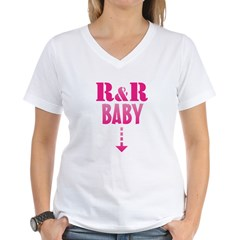 R&R Baby Women's V-Neck T-Shirt