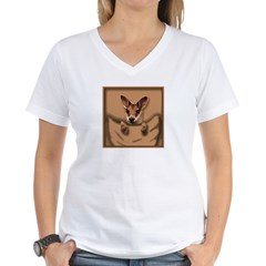 joey roo unlettered.jpg Women's V-Neck T-Shirt