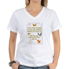 """Teach your children"" Women's V-Neck T-Shirt"