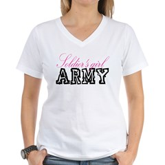 Soldier's girl Women's V-Neck T-Shirt