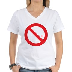 Classic No Smoking Women's V-Neck T-Shirt