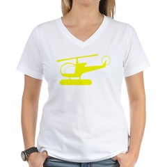 Helicopter Women's V-Neck T-Shirt