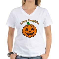 Little Pumpkin Women's V-Neck T-Shirt