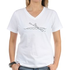 Kayaking Women's V-Neck T-Shirt