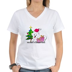 Bichon Frise Women's V-Neck T-Shirt