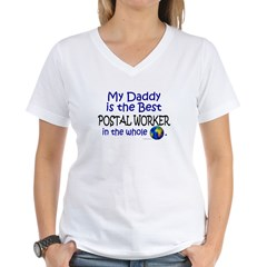 Best Postal Worker In The World (Daddy) Women's V-Neck T-Shirt