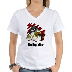 The Dogfather Women's V-Neck T-Shirt