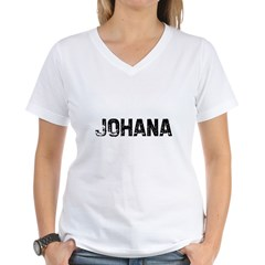 Johana Women's V-Neck T-Shirt
