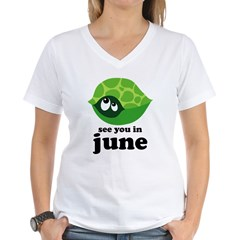 June Baby Due Date Women's V-Neck T-Shirt