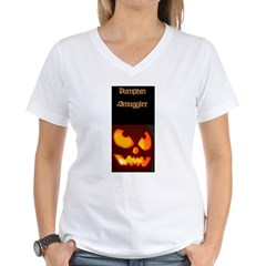 """Pumpkin Smuggler"" Women's V-Neck T-Shirt"