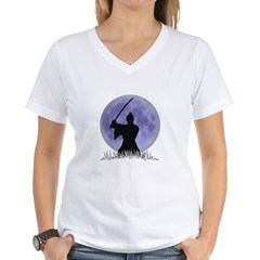 Samurai Spirit 1 Women's V-Neck T-Shirt