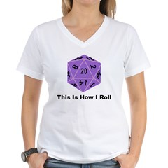 How I Roll Women's V-Neck T-Shirt
