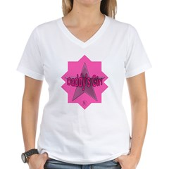 Daddy's Girl (Star) Women's V-Neck T-Shirt