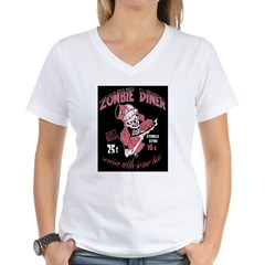 zombie diner Women's V-Neck T-Shirt