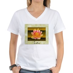 Good Morning Lotus Women's V-Neck T-Shirt