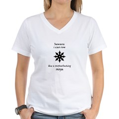 Rowing Ninja Women's V-Neck T-Shirt