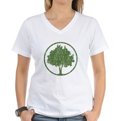 Vintage Tree Women's V-Neck T-Shirt