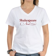 Shakespeare Nerd Products Women's V-Neck T-Shirt