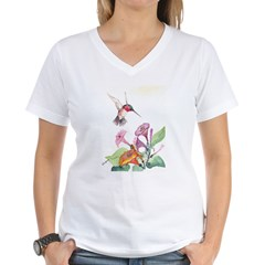 Adorable Hummers Women's V-Neck T-Shirt