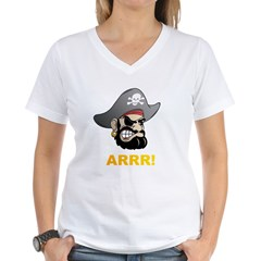 Arr Pirate Women's V-Neck T-Shirt