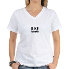 """Luke 11"" Women's V-Neck T-Shirt"