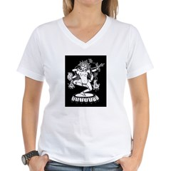 Dakini (Kurukulla) and Cheerleaders Women's V-Neck T-Shirt