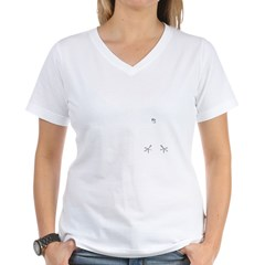 German Baseball Style Women's V-Neck T-Shirt