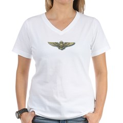'Naval Aviator Wings' Women's V-Neck T-Shirt