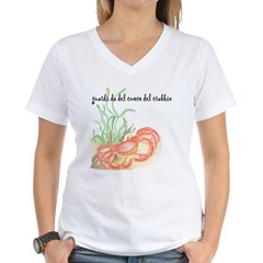 Italian Crabbie Cook Women's V-Neck T-Shirt