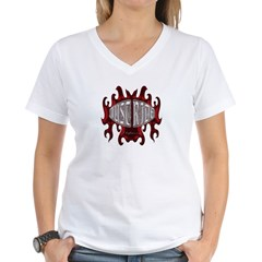 Biker T-shirt Just Ride Women's V-Neck T-Shirt