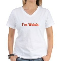 I'm Welsh Women's V-Neck T-Shirt