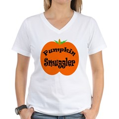 Pumpkin Smuggler Women's V-Neck T-Shirt
