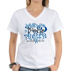 What's Up Your Butt? Women's V-Neck T-Shirt