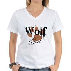 Wolf Girl Women's V-Neck T-Shirt