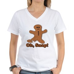Gingerbread Snap Women's V-Neck T-Shirt
