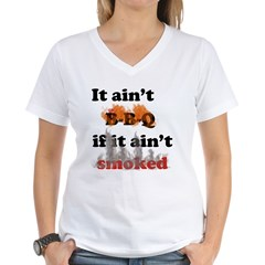 Bbq-smoked Women's V-Neck T-Shirt