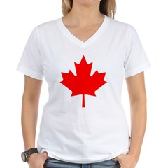 Maple Leaf Women's V-Neck T-Shirt